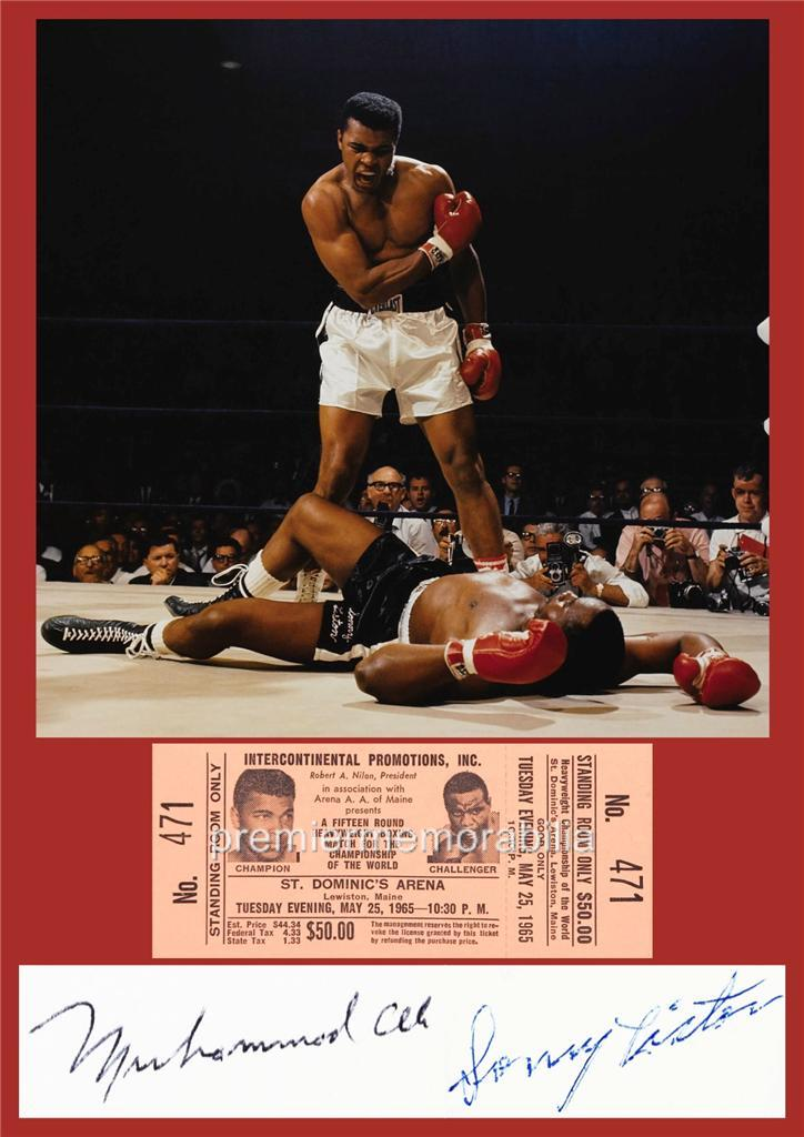 BOXING-LEGENDS-MUHAMMAD-ALI-v-SONNY-LISTON-1965-SIGNED-PRINTED-EXCLUSIVE-PRINT