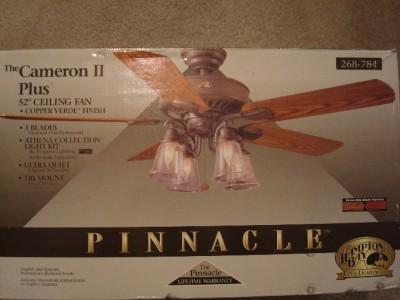 Hampton Bay Pinnacle Cameron Ii Plus 52 Inch Ceiling Fan