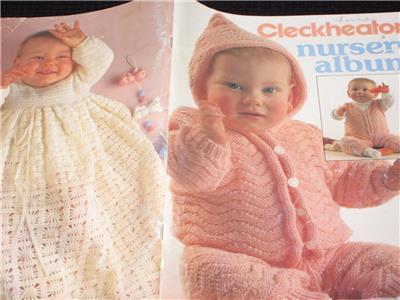 CLECKHEATON KNITTING BABY BABIES PATTERN BOOK NURSERY ALBUM KNIT PATTERNS
