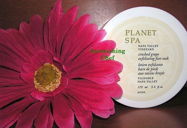 Avon Planet Spa Crushed Grape Exfoliating Foot Soak