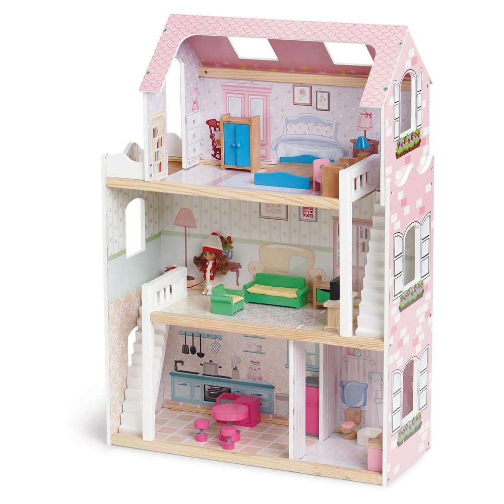 New-Tinkers-86cm-Emily-Doll-House-Girls-Dollhouse-Pretend-Play-Fun