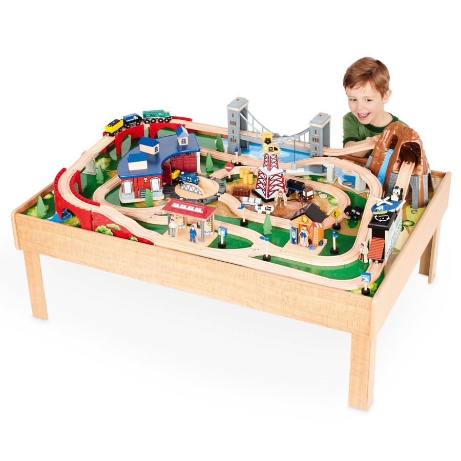 New imaginarium train table inc 100pcs w roundhouse for 10 in 1 game table toys r us