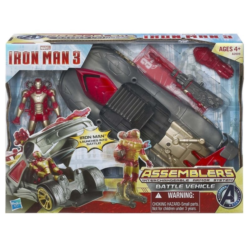 NEW-Iron-Man-3-Assemblers-Battle-Vehicle-Interchangeable-Armor-System-25-Combos