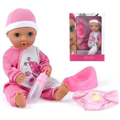 NEW-Dolls-World-Baby-Girl-Olivia-Drink-And-Wet-Doll-Fully-Bathable