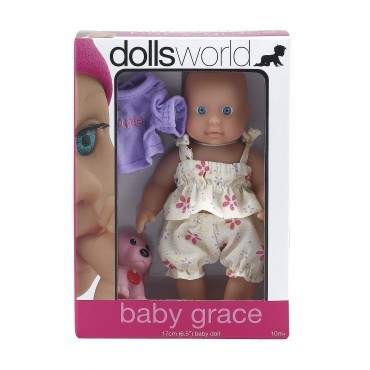 NEW-Dolls-World-Baby-Grace-Baby-Doll-Female-Girl-Cutie-Toy