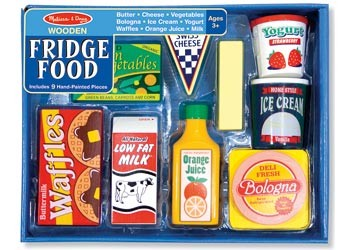 NEW-Melissa-Doug-M-D-Wooden-Fridge-Food-Set-Pretend-Play-Kitchen-Fun-Kids