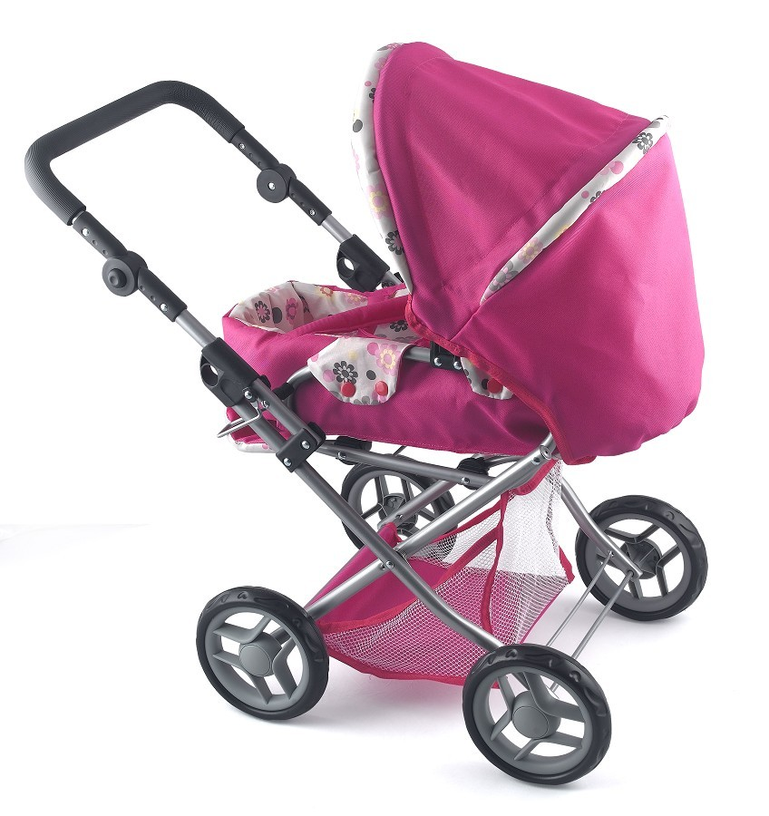 NEW-Dolls-World-Deluxe-Pram-Stroller-Girls-Pretend-Play-Parent-Toy-4-Baby-Doll