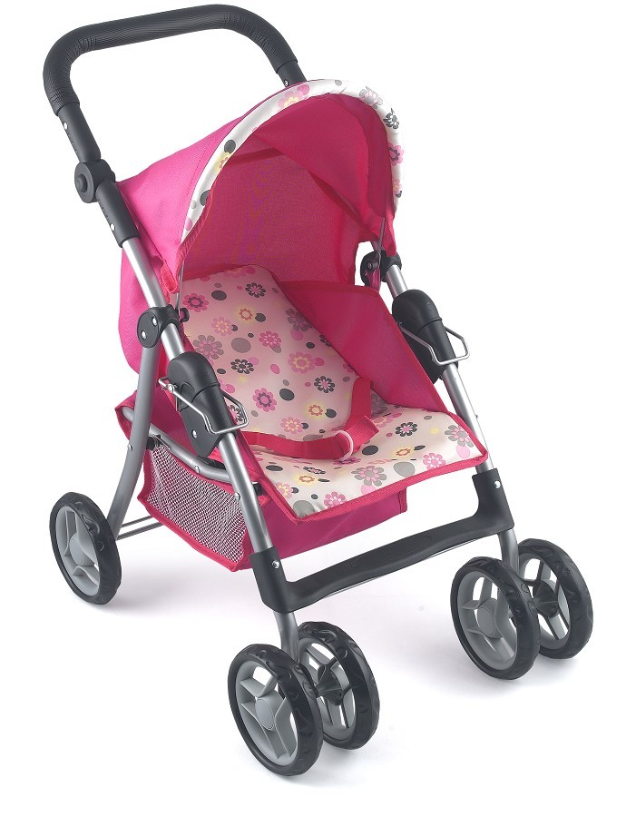 NEW-Dolls-World-Deluxe-Stroller-Girls-Pretend-Play-Parent-Pram-Toy-4-Baby-Doll