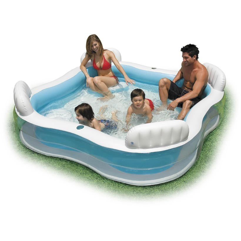 Intex Swim Center Family Pool Deluxe Family Lounge Above Ground Swimming Pool | eBay