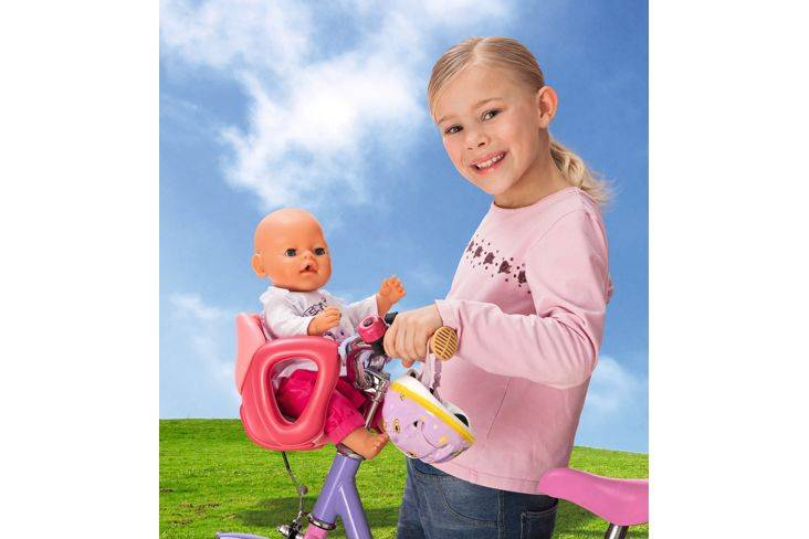 NEW-Zapf-Creations-Baby-Born-Happy-Journey-Biker-Bike-Seat-For-Kids-Doll