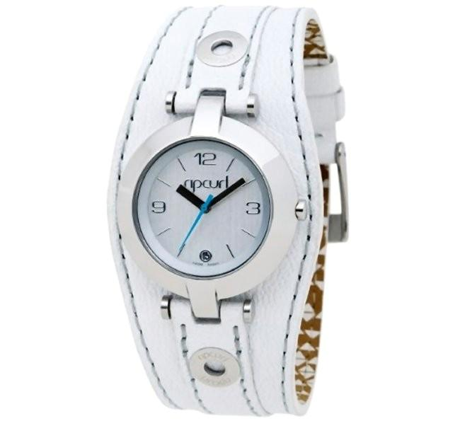 Rip-Curl-SOHO-Leather-WHITE-Cuff-Womens-Waterproof-Surf-Watch-New-in-Box