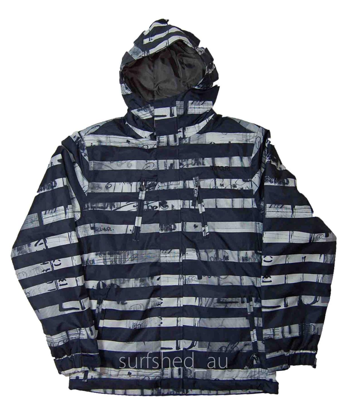 Size-L-Mens-Rip-Curl-ANSWER-Black-Snow-Board-Ski-Mountain-Waterproof-Jacket-New