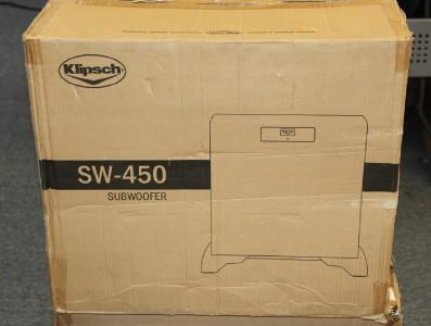 klipsch sw 450 subwoofer ebay. Black Bedroom Furniture Sets. Home Design Ideas