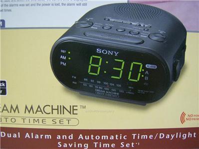 SONY Dual Alarm Clock Radio w/ AUTOMATIC TIME SET am fm