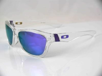 oakley frogskin polished clear l violet iridium