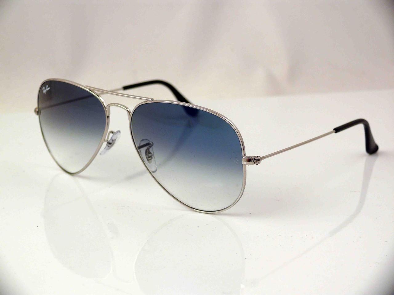 Ray Ban Large Frame Glasses : RAY BAN LARGE METAL AVIATOR SUNGLASSES SILVER FRAME LIGHT ...