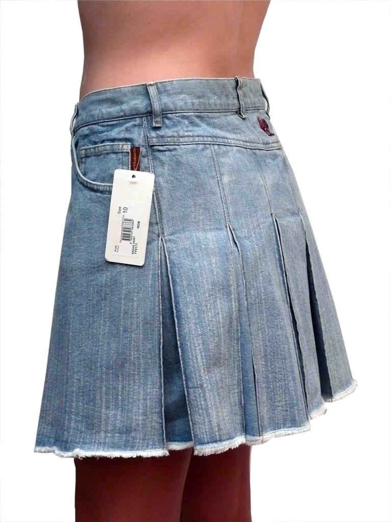 ripcurl pleated denim skirt size 10 new vintage rip