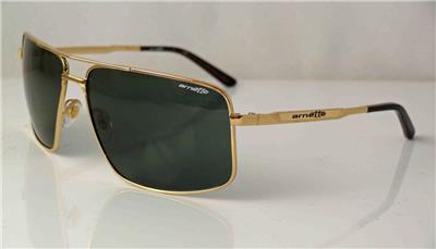 ARNETTE BACON AVIATOR SUNGLASSES POLISHED GOLD METAL FRAME ...