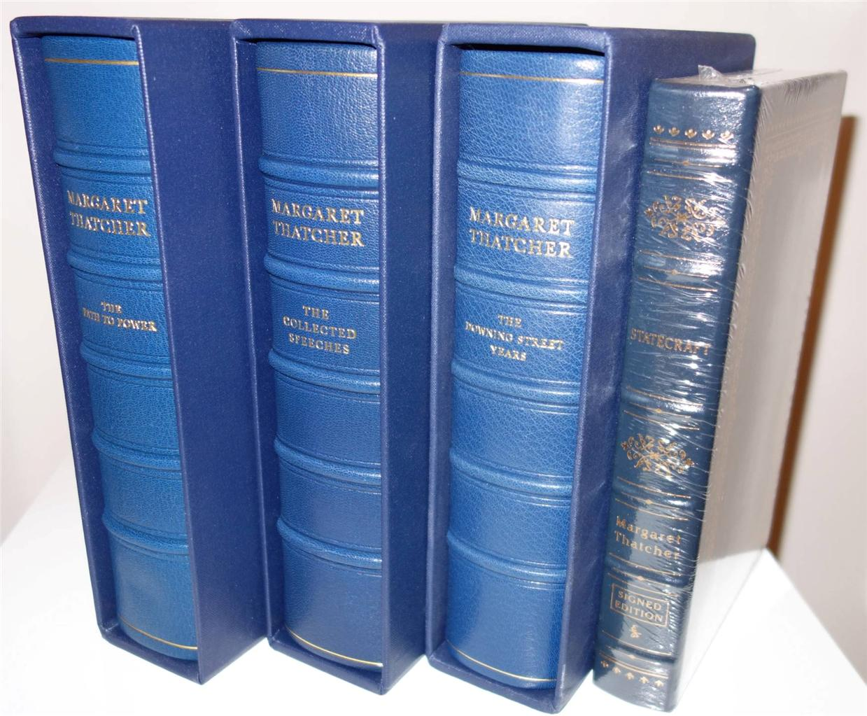 THE-COMPLETE-DELUXE-SET-MARGARET-THATCHER-ALL-LEATHER-BOUND-LIMITED-SIGNED