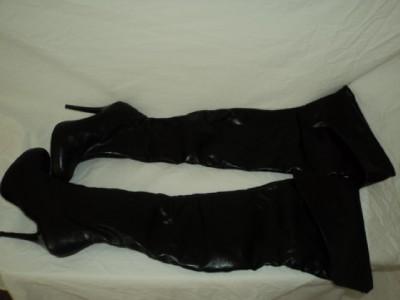 diba bronx will oh the knee thigh high black boots 6 99