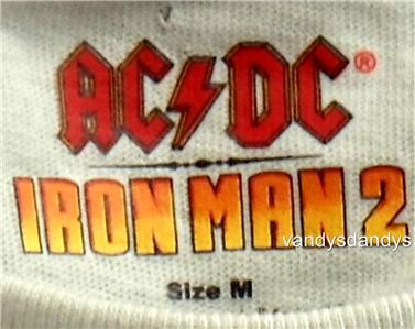 Iron Man ACDC M Medium Shirt Shoot Thrill Downey AC DC