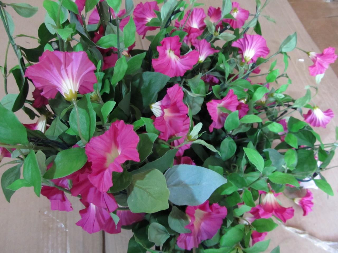 Hanging Flower Baskets With Lights : Bethlehem lights petunia hanging flower basket doesn t