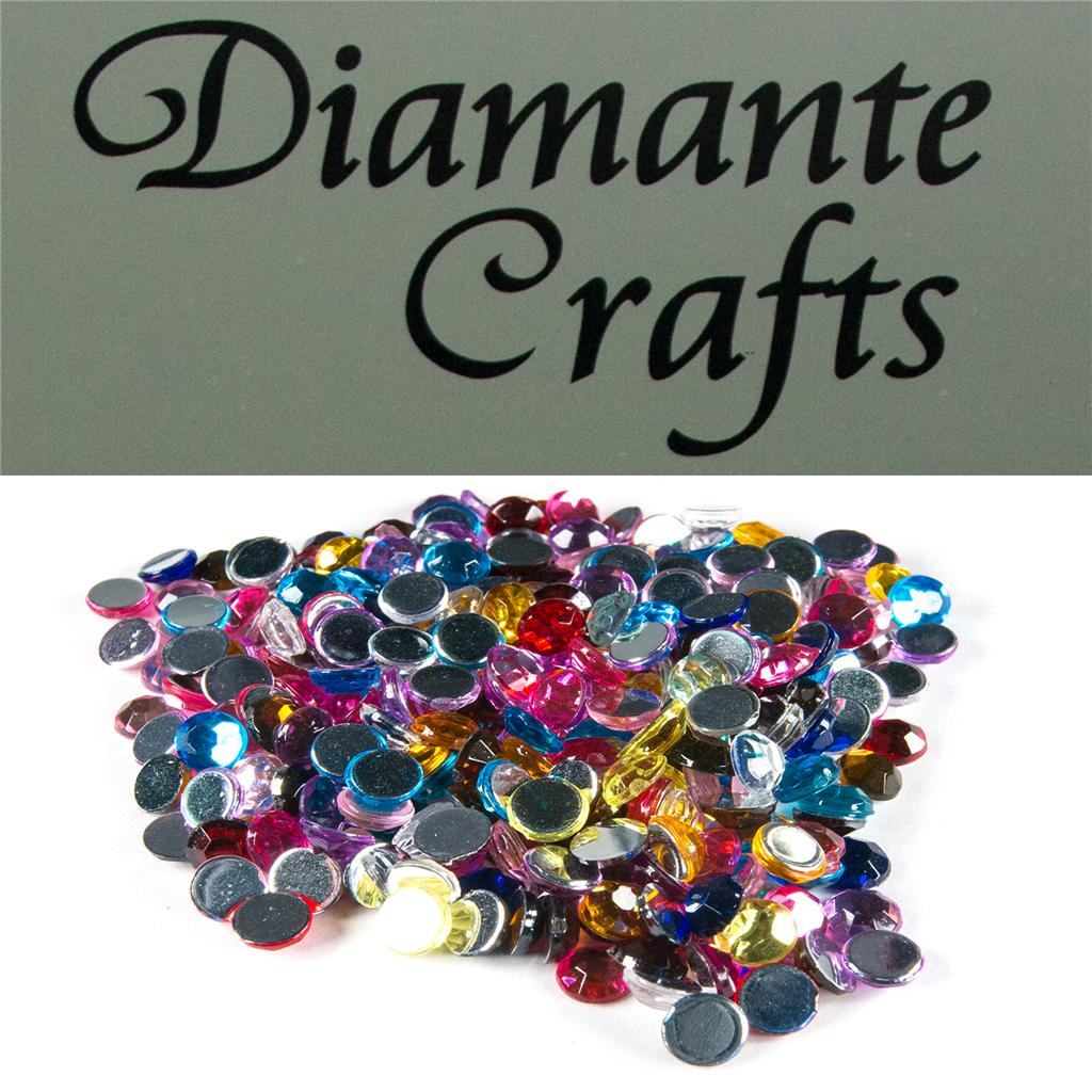 5mm Diamante Round Loose Flat Back Vajazzle Body Gems Choose from 18 Colours
