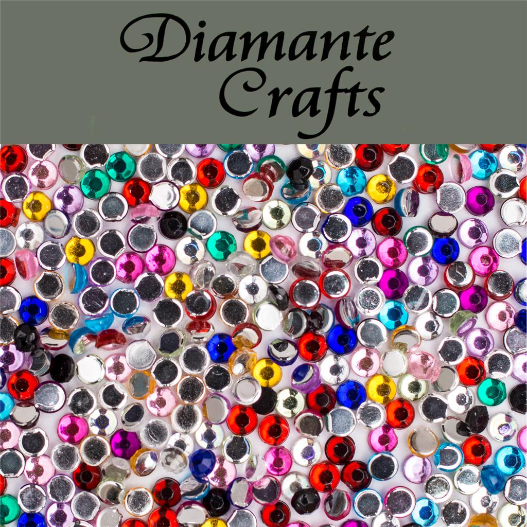 1000 x 2mm diamante loose flat back rhinestone nail body for Rhinestone jewels for crafts
