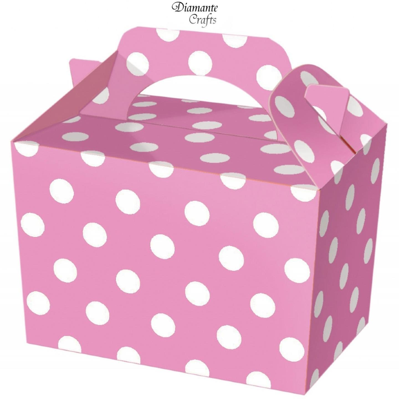 Party-Boxes-Polka-Dot-Food-Loot-Spot-Treat-Box-6-Colours-Choose-Quantity
