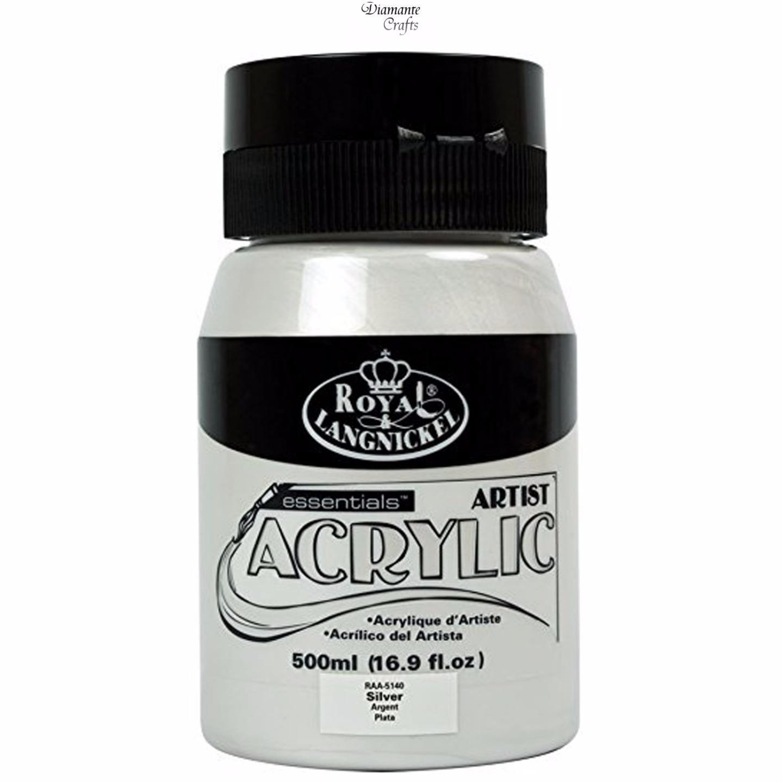 royal langnickel 500ml essentials tubs acrylic paint jars 27