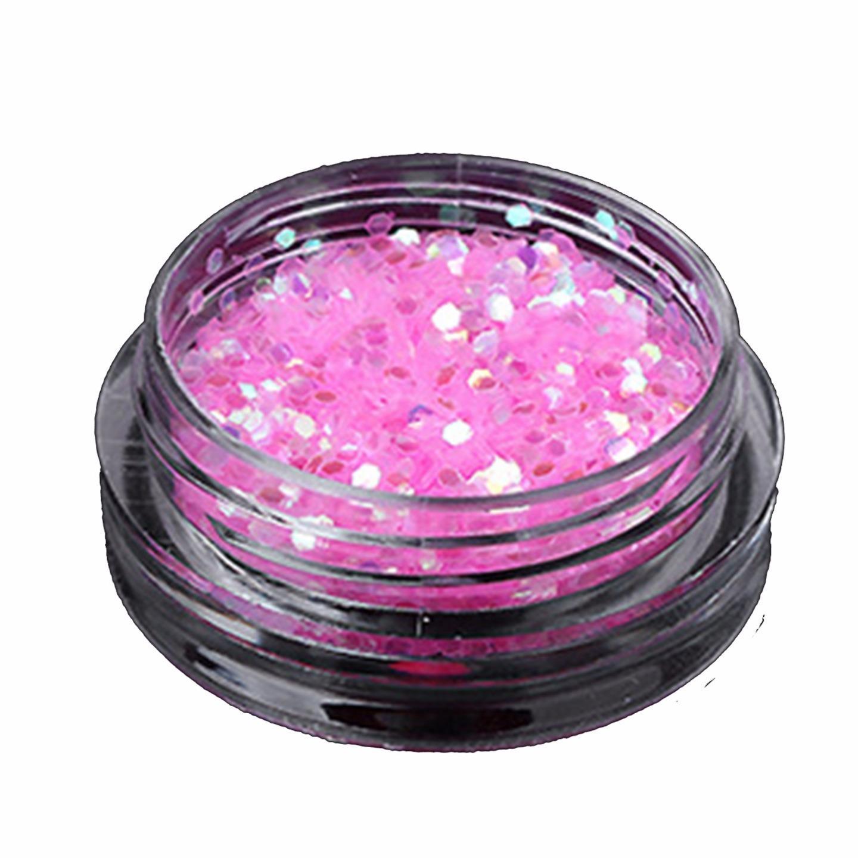 1mm Hexagon Glitter 3 Grams Mylar Ice Flakes Festival Makeup