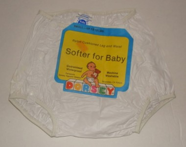 Vintage Diapers And Plastic Pants http://www.ebay.com/itm/Vintage-Baby-Plastic-Rubber-Dorsey-Waterproof-Pants-Diaper-Cover-with-Tag-/111036499180