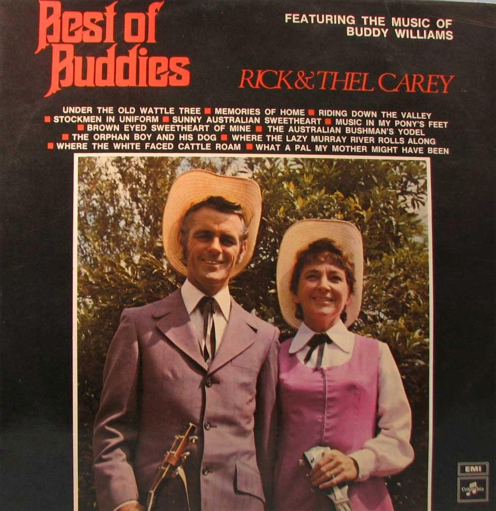 RICK-THEL-CAREY-Best-Of-Buddies-OZ-LP-1973-Buddy-Williams-Country
