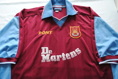 Rare Vintage West Ham United Football Shirt Pony Dr