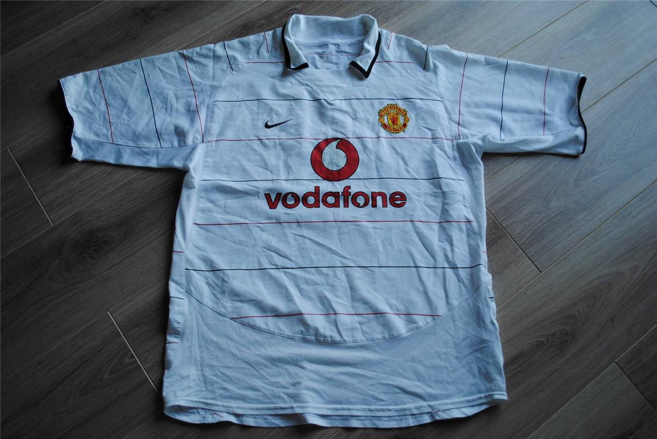 RARE Vintage Manchester United Football Shirt Nike Vodafone 3rd Kit 2003 Giggs