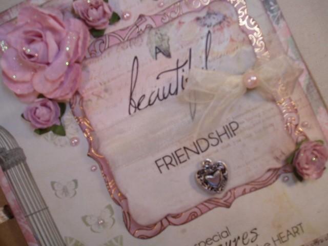 Handmade-034-FRIENDSHIP-034-vintage-shabby-chic-paper-bag-photo-album-scrapbook-gift