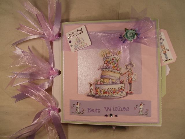 Handmade-034-BIRTHDAY-034-Pastel-Best-wishes-birthday-surprise-photo-paper-bag-ALBUM