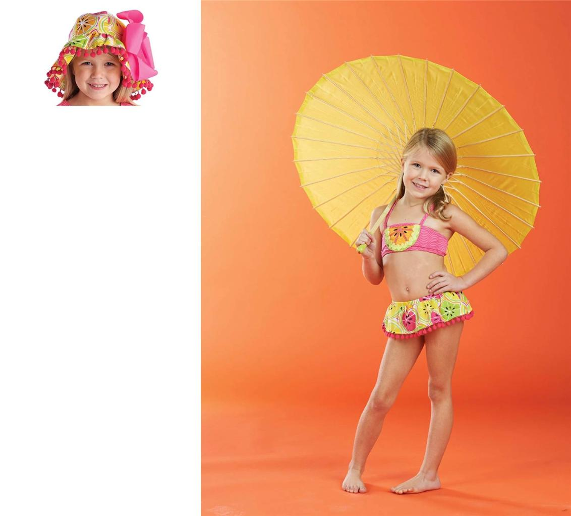 Mud Pie Baby Girl Tutti Frutti Collection Citrus Bikini Bathing Suit 1122103 New