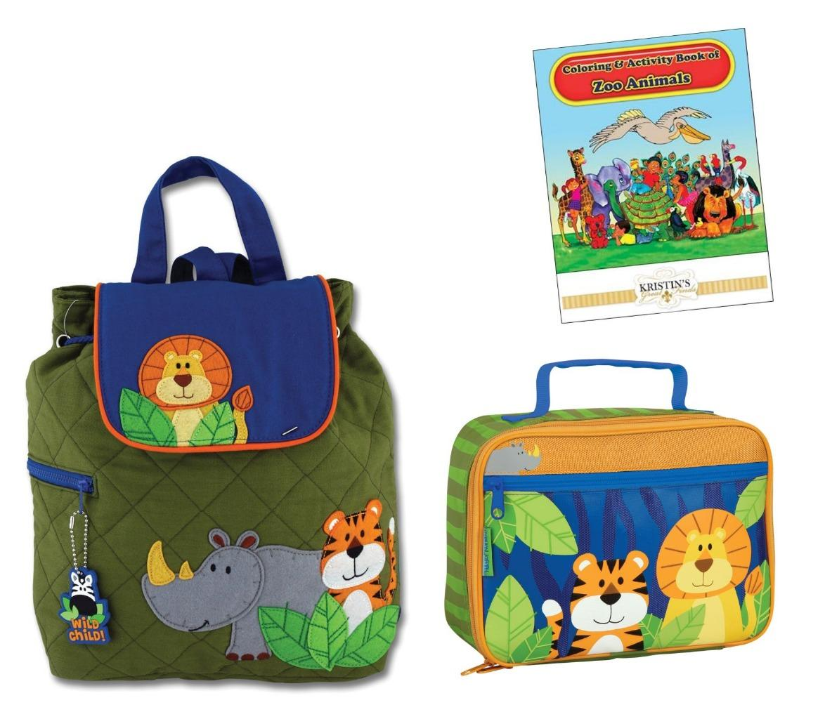 Stephen Joseph Quilted Backpack Lunch Box Set Kids