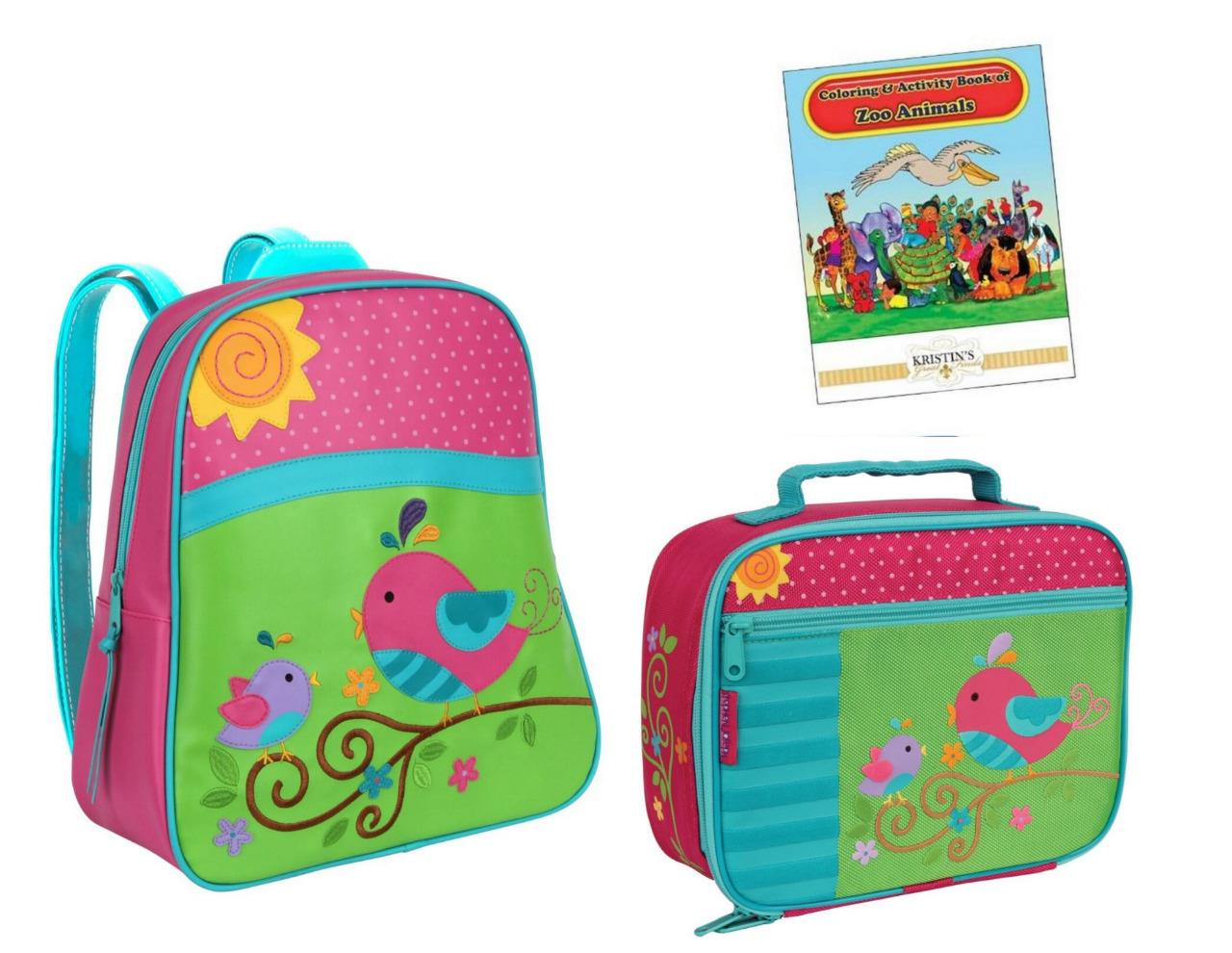 stephen joseph gogo go backpack lunch box set kids toddler school preschool bag ebay. Black Bedroom Furniture Sets. Home Design Ideas