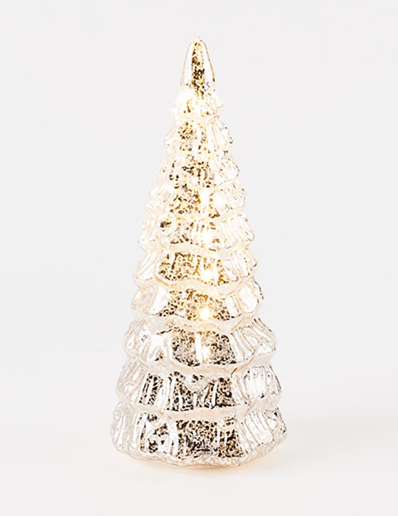 180 degrees lighted mercury champagne color glass for 180 degrees christmas decoration