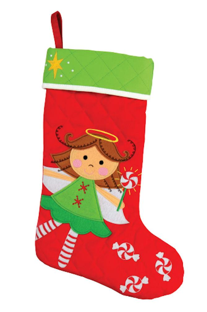 Stephen Joseph Holiday Quilted Christmas Stocking 18 Kids