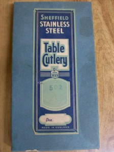 Sheffield stainless steel cutlery