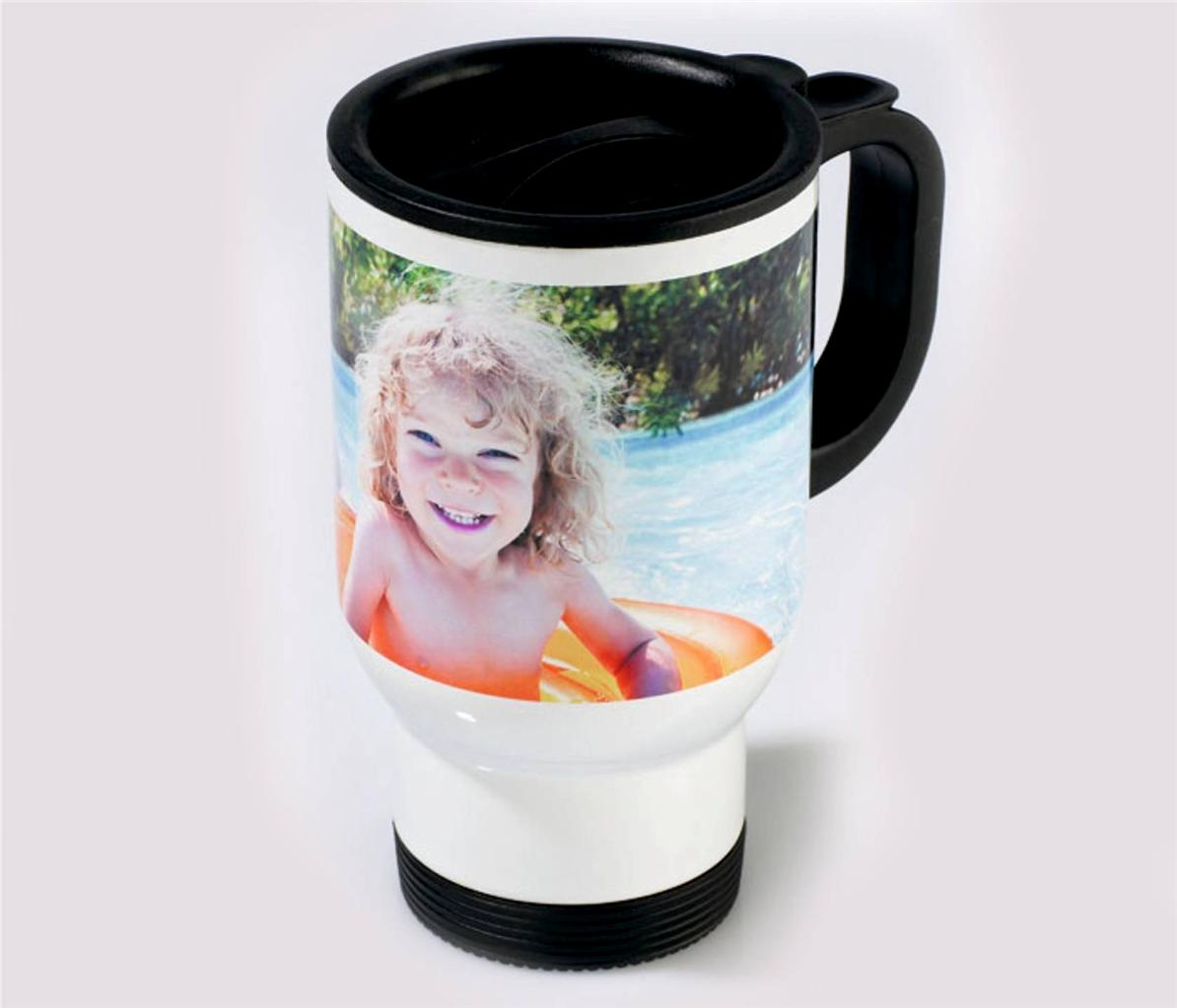 Environmentally Polymer Travel Mug Personalised With Your