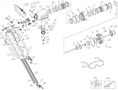 Dewalt D51822 Framing Nailer Amp Trigger O Ring Kit Type 1 2