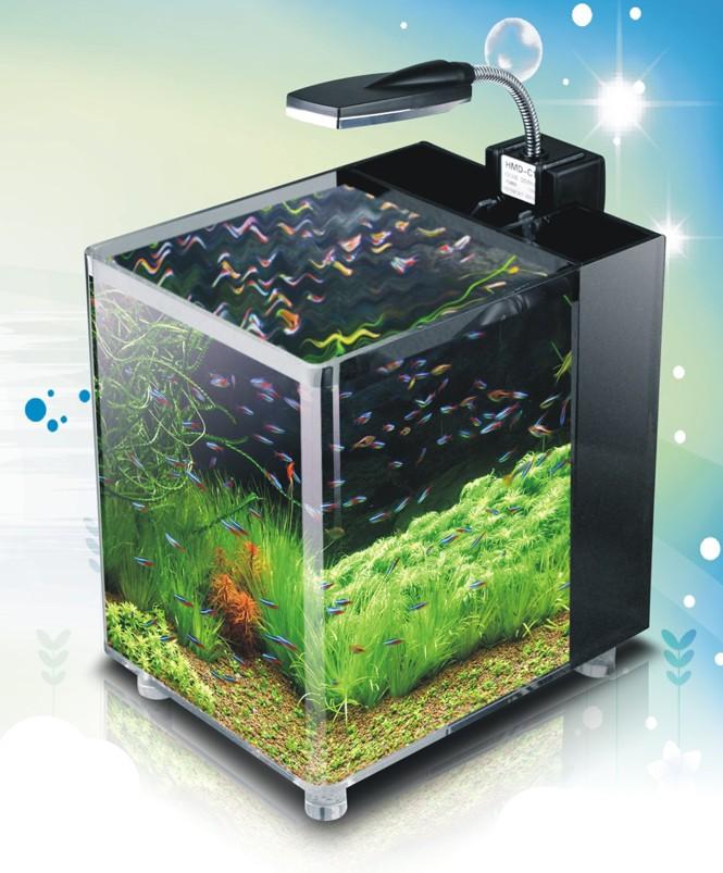 Acrylic nano cube aquarium tropical fish tank 32 led 39 s ebay for Acrylic fish tank