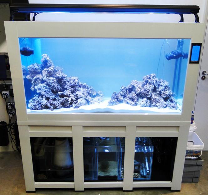 Aquarium marine acrylic fish tank sump filtration 100cm ebay for Fish tank sump pump