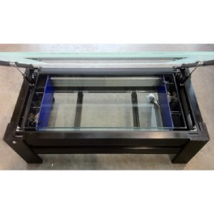 Coffee table aquarium fish tank with built filtration ebay - Fish tank living room table ...