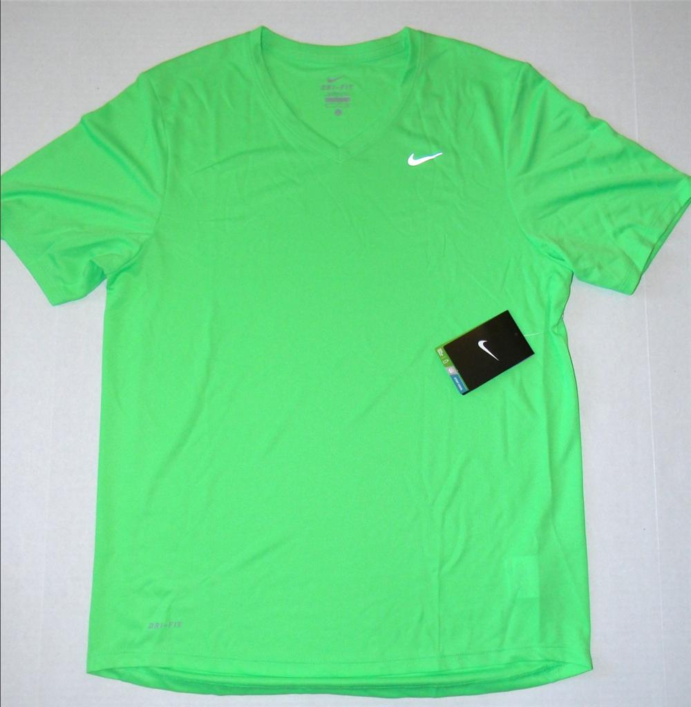 Nike challenger v neck running t shirt dri fit navy blue for Running dri fit shirts