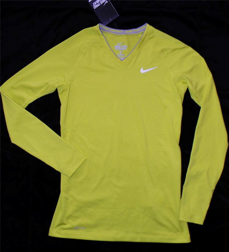 Nike Women 39 S Pro Combat Fitted Long Sleeve Dri Fit Shirt